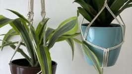 Macrame flower pots