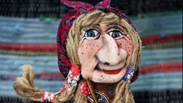 Интерьерная кукла  Баба Яга