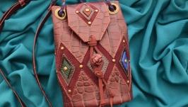 Кожаная сумка ′ДОМИНИКА′