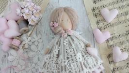 Ангел текстильный в стиле Тильда