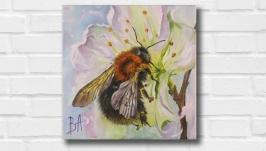 Картина маслом ′Весна′ 20х20 см, холст на подрамнике, масло