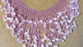Кольє ′Корали′ рожеве