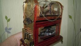 Механическая музыкальная шкатулка в викторианском стиле ′ЗИМНИЙ САД′