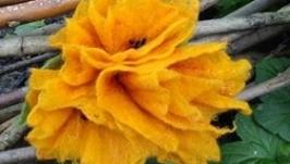Брошка заколка′ Цветок желтый′