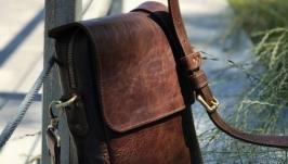 Мужская кожаная сумка ′Все под рукой′