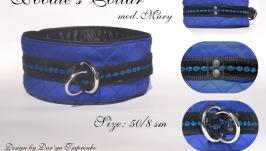 Electric Blue Poodle′s Collar. Mod. Mary Нашийник для Пуделя