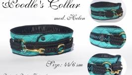 Turquoise Poodle′s collar, mod. Helen, Нашийник для Пуделя