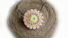 Кулон-мандала ′Белая лилия′