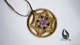 Thread Mandala Pendant