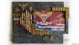 Фоторамка в подарок десантнику на день ДШВ, день защитника украины