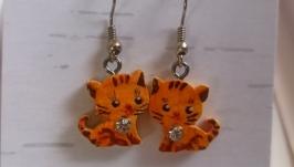Сережки детские ′Рыжие котята′