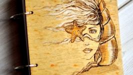 Блокнот из дерева 16х16см ′Океанида′