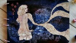 Блокнот из дерева А4 ′Волшебный вечер′