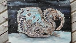Блокнот из дерева А4 ′Снежный дракон′