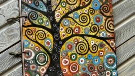 Блокнот из дерева 22х22см ′Цветные сны-3′
