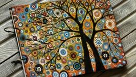 Блокнот из дерева А4 ′Цветные сны-4′