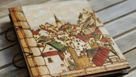 Блокнот из дерева А5 ′Старый город′