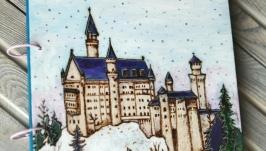 Блокнот из дерева 22х22см ′Замок Нойшвайнштайн′
