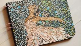 Блокнот из дерева А4 ′Балерина′