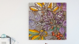 Картина на дереве 50х50см ′Лесная′