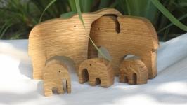 Детский развивающий пазл-игрушка ′Семья слонов′