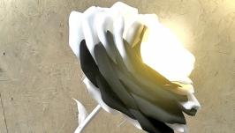 Светильник ′Роза инь и янь′