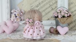 Текстильная кукла, 10 см.