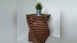 Дизайнерская тумба – светильник из дерева Twist Classic
