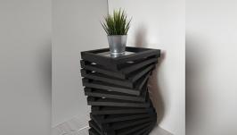 Дизайнерская тумба – светильник из дерева Twist Black