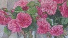Троянди та черешні (малюнок)