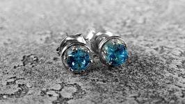 Серьги-пуссеты BLUE mini