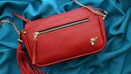 Кожаная сумка ′МАДЛЕН′ для женщин