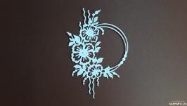 картонная вырубка ′Рамка ′Шиповник′, декор для скрапбукинга