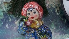 Іграшка новорічна ′Дівчинка з пташками′