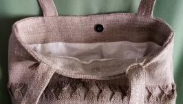 Льняная сумка ′Васильки′