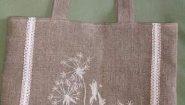 Льняная сумка ′Одуванчик′.