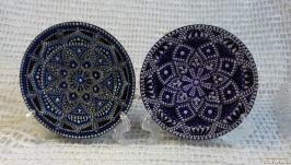 расписная тарелка набор точечная роспись