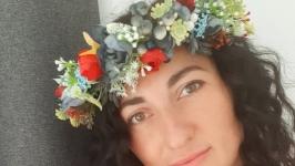 Вінок  на голову український. Венок с цветами
