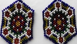 Серьги красивые в украинском стиле Серьги ручной работы
