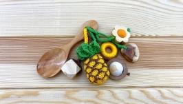 Грызунок-ложка из можжевельника (погремушка) - ананас