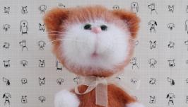 Рыжий кот вязаная игрушка