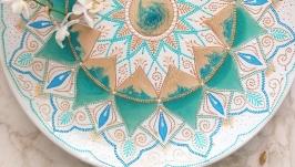 ′Бирюзовая сказка′ декоративная тарелка