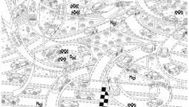 Мега-раскраска ′Гонки′ 100х70см (раскраска для детей)