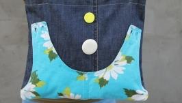 Сумка джинсовая с цветами