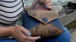 Женская сумочка-конверт ′ Голубые дали ′