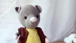 Мышонок Слиппи Вязаная игрушка крючком Ручная работа Подарок на праздник