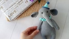 Слон Игрушка вязаная крючком Ручная работа