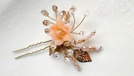 Шпилька Персиковый цвет