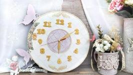Часы настенные ′Белое Золото′