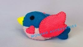 Детская резинка для волос ′Птичка′ Синяя для девочки